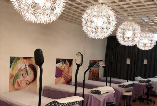 Candy spa beds shop inside lights