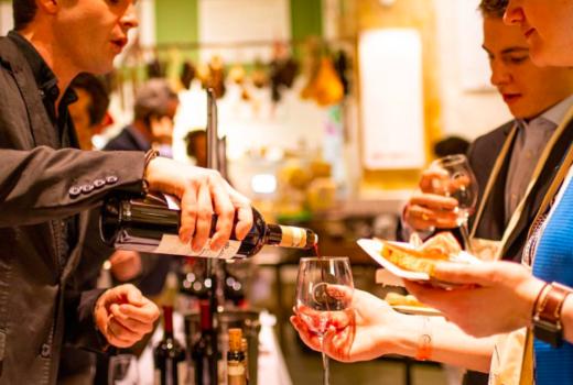 Eataly spring festa wine tasting pour