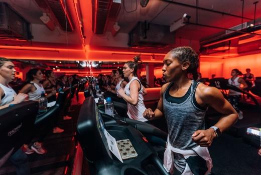 Mile high run club treadmills fast sweat