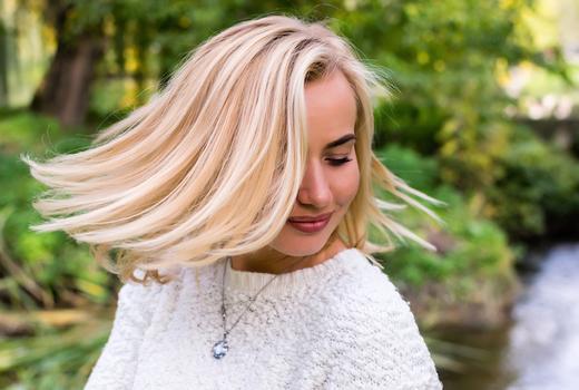 Anonymous salon blonde girl short hair