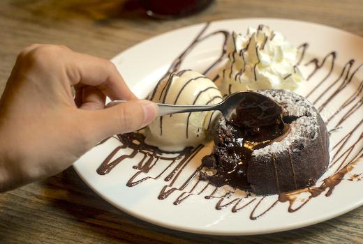Hotel chantelle chocolate lave ice cream