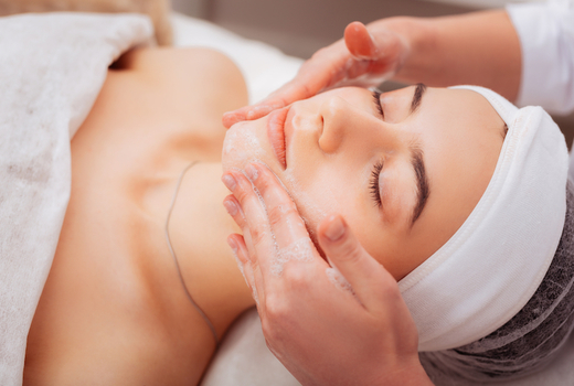 Ve medspa woman facial clean face