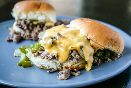 Village lantern kentucky derby cheesesteak sliders