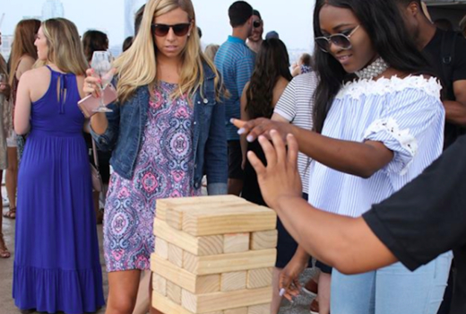 Hornblower cruise giant jenga friends