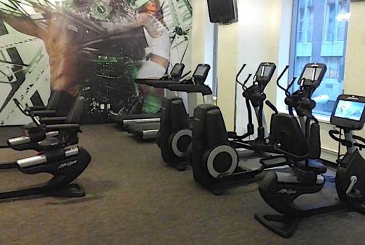 Exude fitness elliptical windows