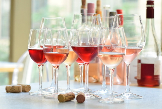Eataly spring cheese wine festival rose glasses