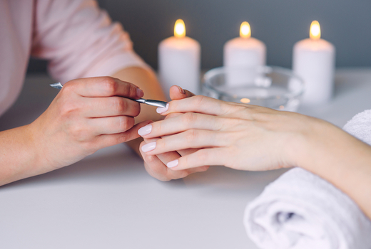 Ve medspa salon manicure candles polish