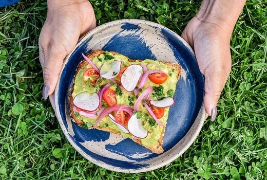 Bowl blade picnic avocado toast yum