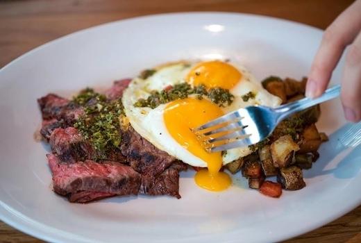 The ainsworth fidi brunch steak eggs