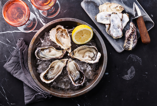 Pomona seafood rose wine oysters