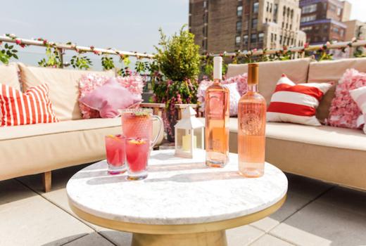 Rose terrace launch party cocktails bottles yum