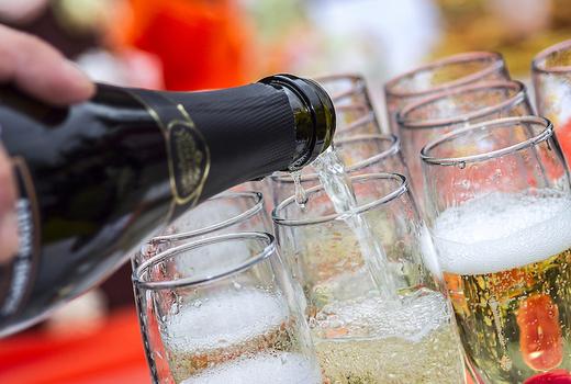 Flute champagne vintage school bubbles