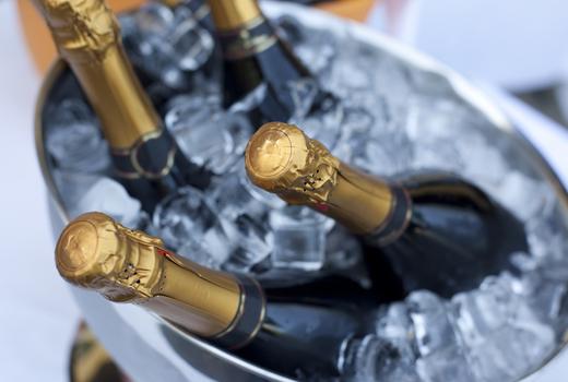 Flute champagne vintage school bucket bottles