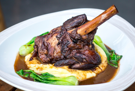 Mykonos blue lamb shank love meat