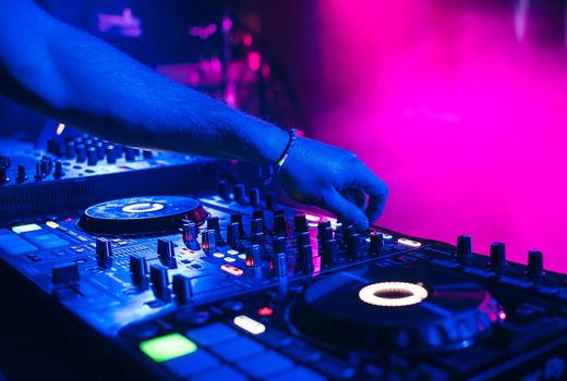 Ama casino night dj booth spin