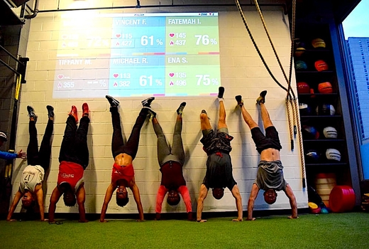 Crossfit spot nyc handstand friends