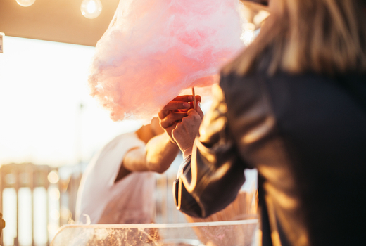 Rose cotton candy
