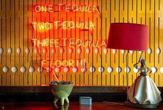 Tijuana picnic brunch neon sign tequila