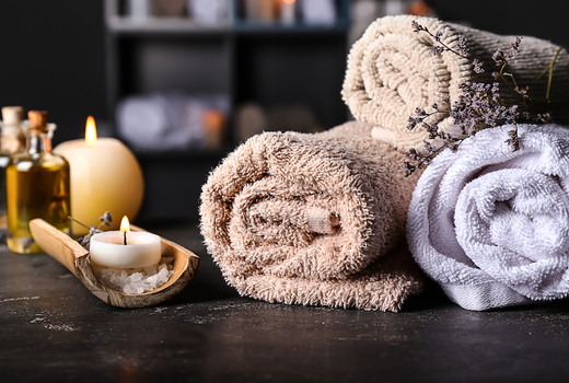Midtown beauty towels candles cool tranquil