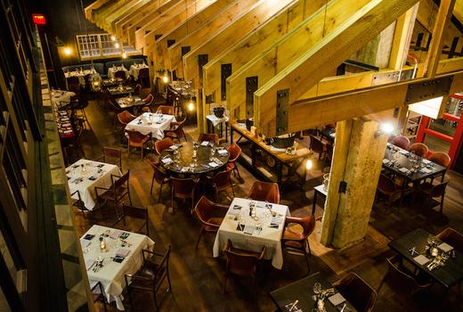 Blackbarn chefs table inside