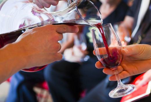 Cotes du rhone wine food fest pour red wow1