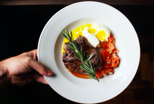 Villa cemita steak eggs yolk cool