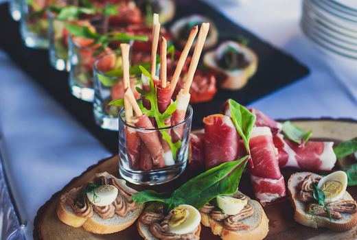Evening in the garden food canapes yum