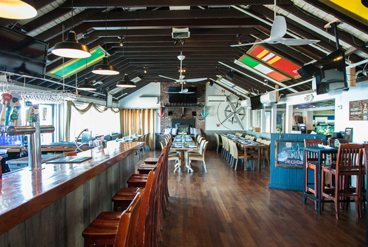 Bungalow luau party inside cool