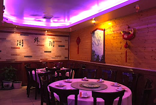 Famous sichuan inside purple lighting tables cool