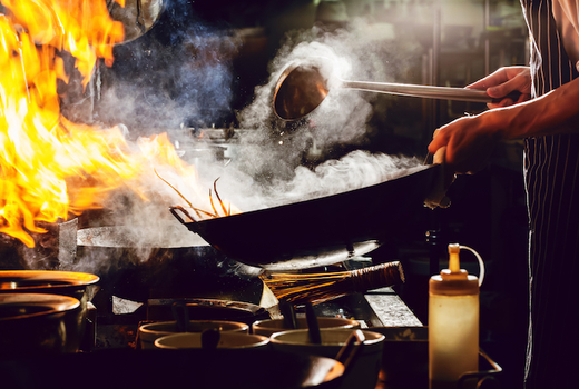 Famous sichuan chef cooking cool