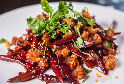Famous sichuan spicy