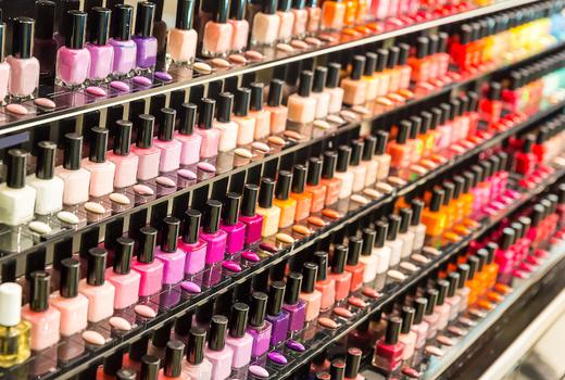 Eruan salon spa racks colors polishes