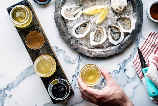 Allagash food 52 beers oysters combo wow