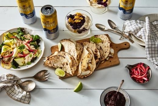 Allagash food 52 beers tacos