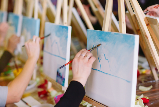 La pittura painting class brushes