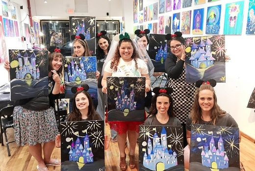 La pittura friends bachelorette birthday event