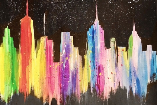 La pittura new york city