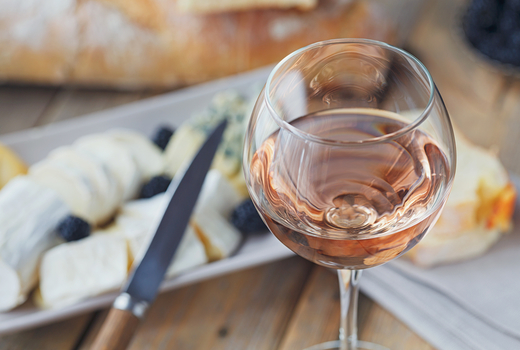 Babeland summer rose soiree wine cheese