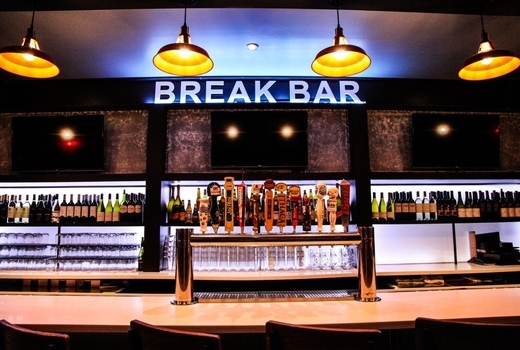 Break bar inside taps lights
