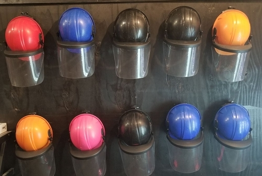 Break bar inside helmets safety