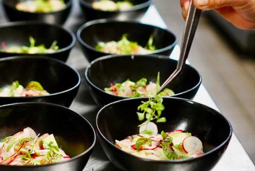 Tasting collective chef plating tweezers