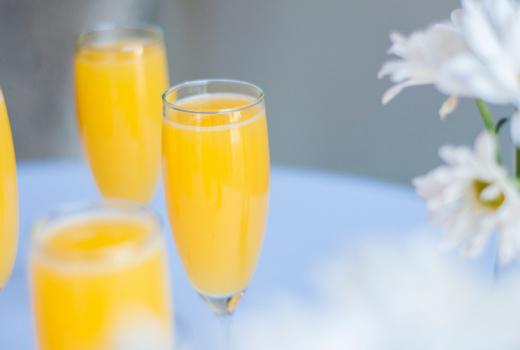 Parish mimosa drink orange juice