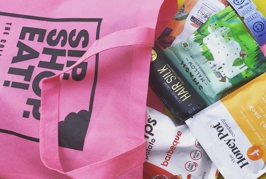 Sip shop eat goodie bag