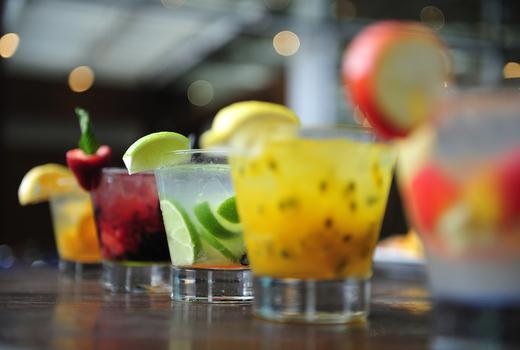 Parish dinner cocktails drinks lineup colors