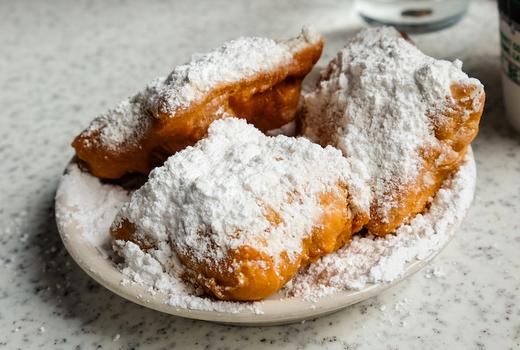 Parish dinner dessert beignets sugar