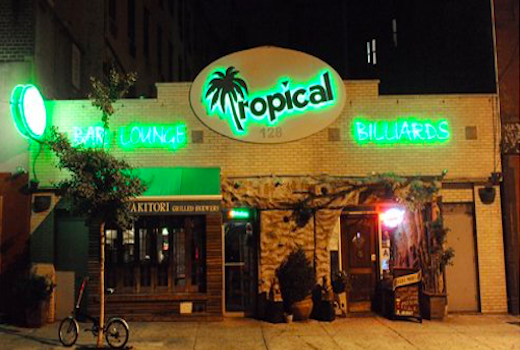 Tropical 128 outside front signs