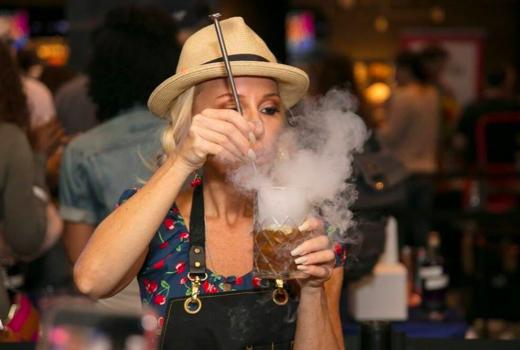New york cocktail festival smokey drink mixology