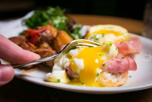 Ainsworth midtown brunch eggs benny fork