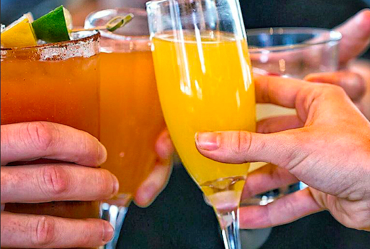 Ainsworth midtown brunch cheers mimosas cocktails