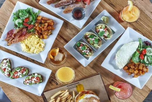 Ainsworth midtown brunch spread love eats yum